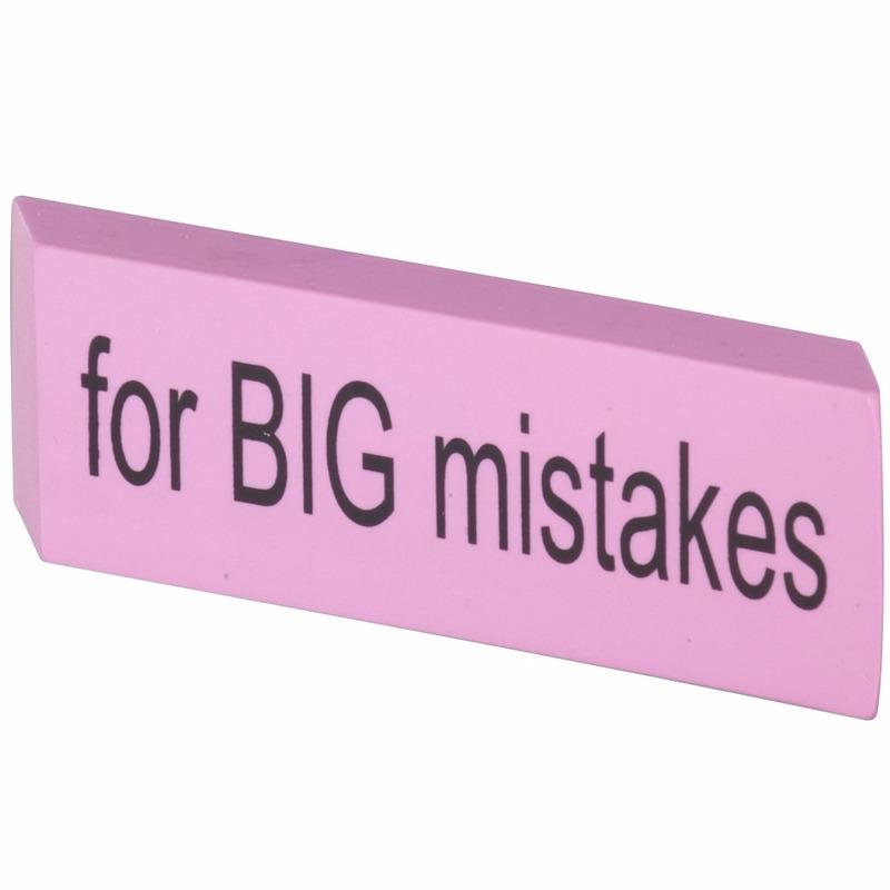 XXL Big Mistake gum 14 x 4,5 cm roze