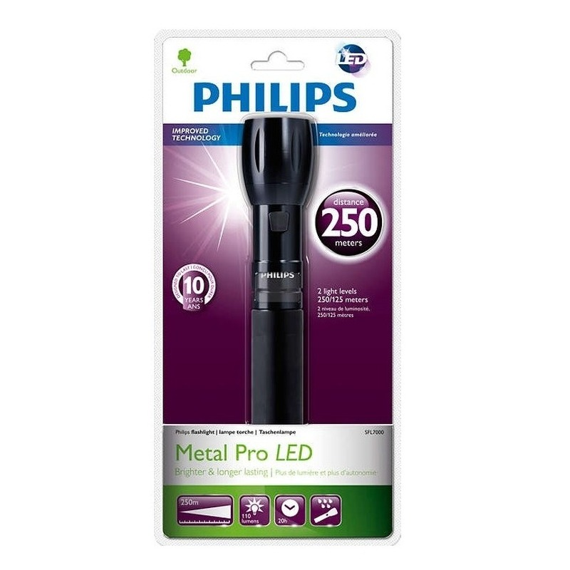 Zaklamp Philips LightLife SFL7000-10 zwart 25 cm