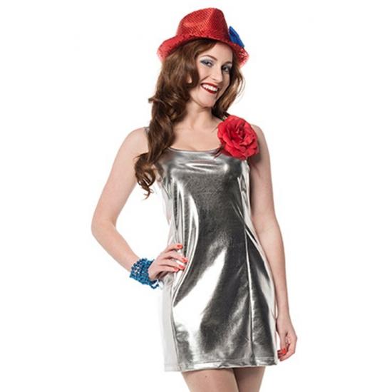 Zilveren disco kleding voor dames