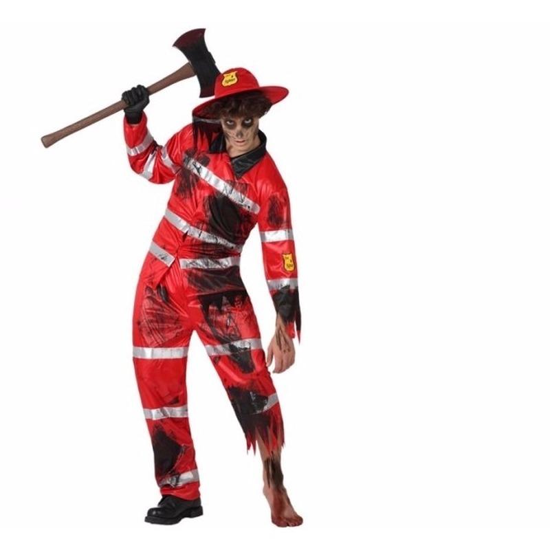 Zombie brandweer kostuum voor volwassenen
