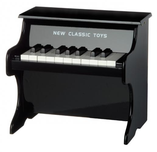 Zwarte kinder piano 30 x 25 x 29 cm