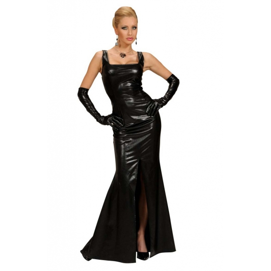 Zwarte lange jurk voor dames