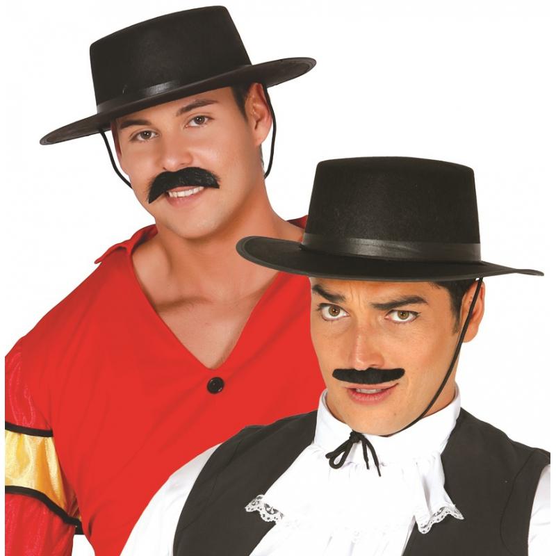 Zwarte Spaanse hoed voor heren