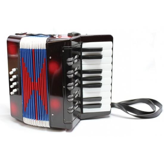 Zwarte speelgoed accordeon