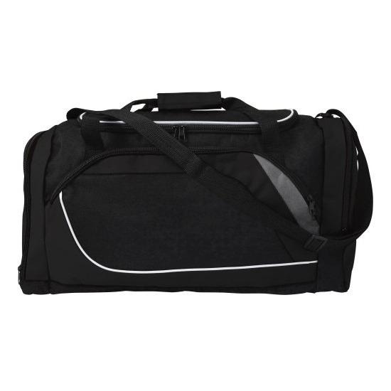 Zwarte sporttas-reistas 45 liter