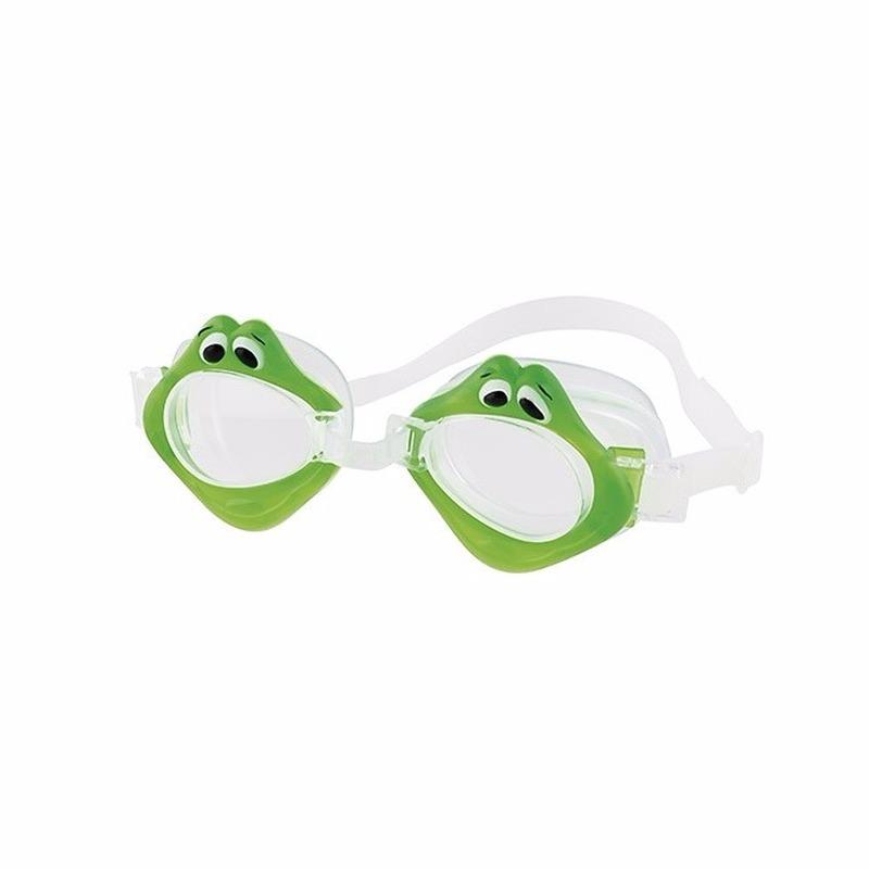 Waterspeelgoed Fashy Zwembril met kikker oogjes voor kinderen groen