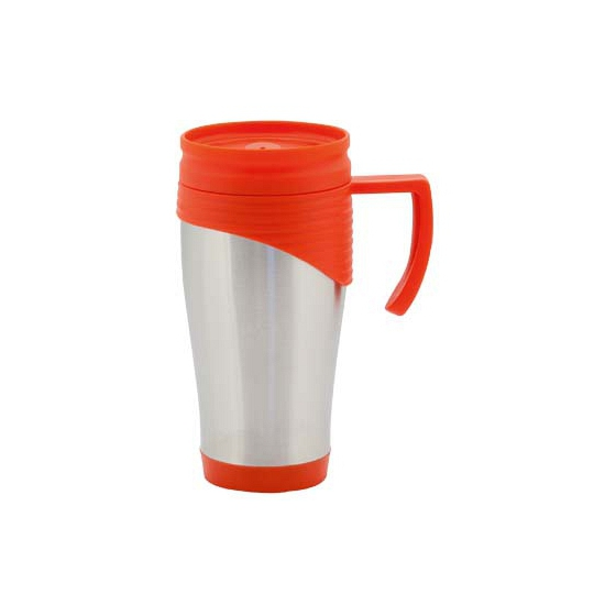 Goedkope RVS thermos beker rood